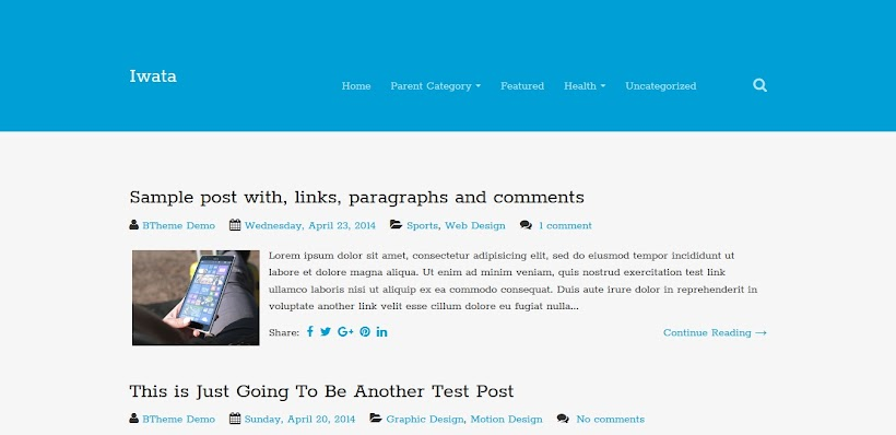 Iwata Free Blogger Template