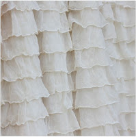 Cream Ruffle Shower Curtain