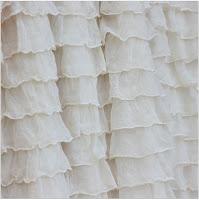 Cream Ruffle Shower Curtain