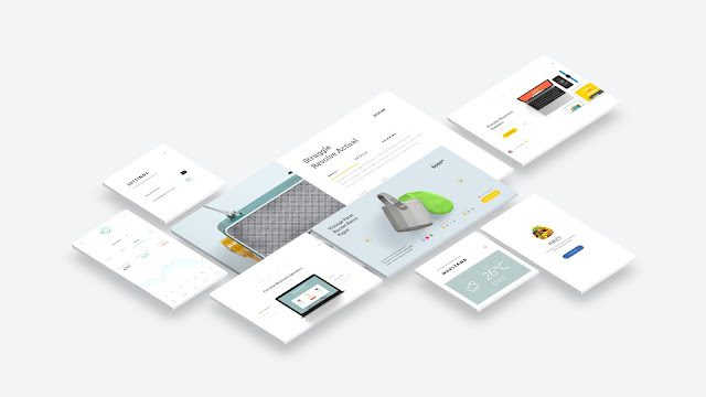 Free Web and App UI Screen Mockup PowerPoint Templates Slide 2
