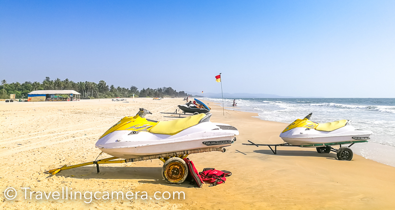 Most of the beaches in South Goa are relatively calm & peaceful, but still you get all those options of water-sports which you find in crowded beaches in North.