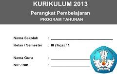 Program Tahunan Kelas 3 SD/MI Kurikulum 2013 Semester 1 Edisi Terbaru