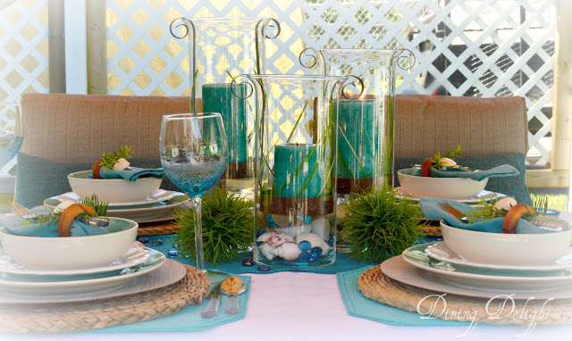 Dining Delight: Beach Tablescape in the Cabana