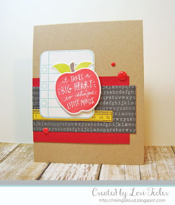 An Apple for Teacher card-designed by Lori Tecler/Inking Aloud