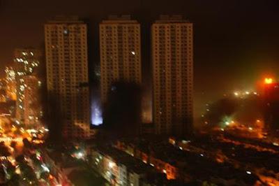 cháy chung cư ở xa la hà đông