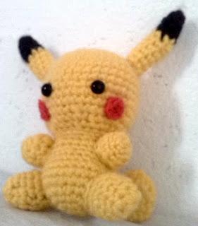 crochet amigurumi baby pikachu pokemon
