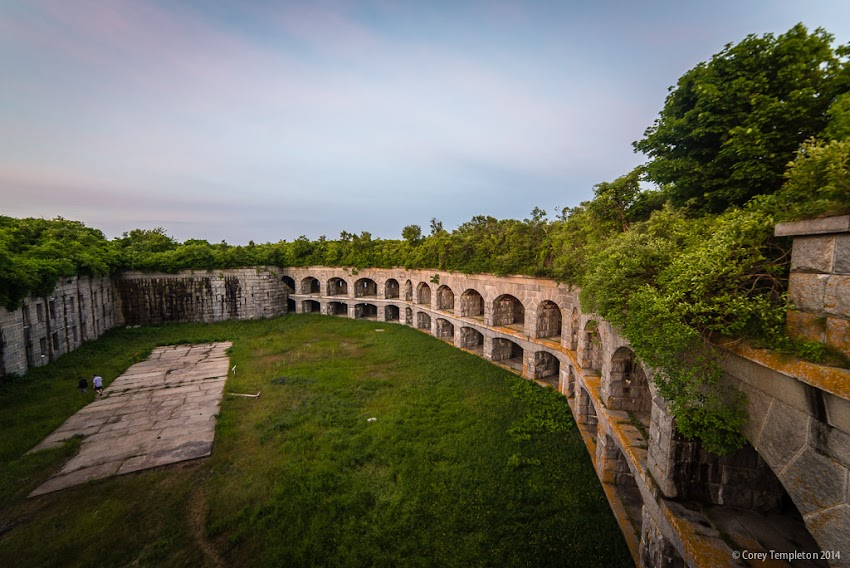 July 2014 Photos of Fort Gorges in Portland, Maine USA Photo by Corey Templeton