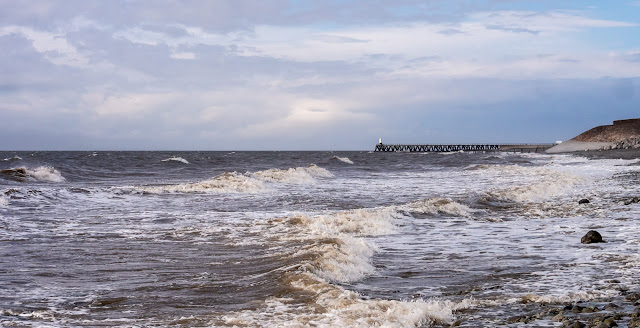 Photo of waves on the shore at Maryport