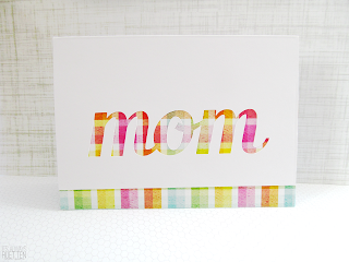 Pretty Mother's Day Card made with Silhouette Portrait! Free cut file to download too!
