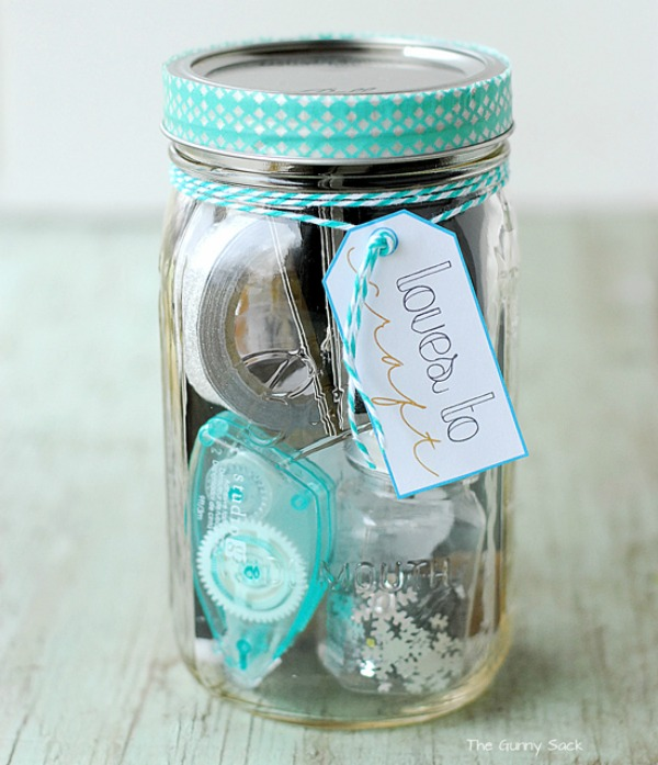 Presentes em potes de vidro, vidros de palmito ou de compotas