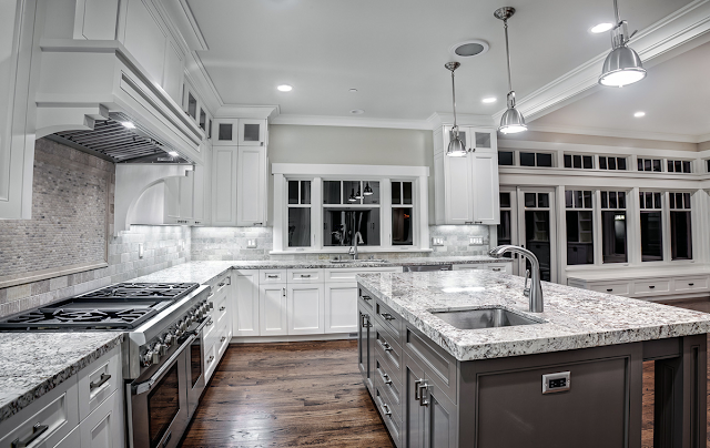 White Rose Granite Kitchen