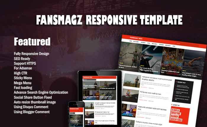 Fansmagz Responsive Blogger Template