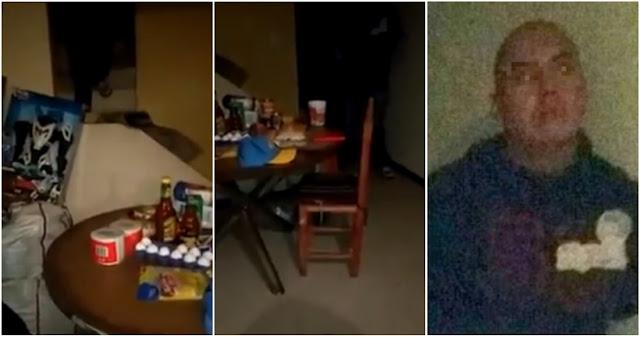 VIDEO,  Así fue el arresto del ex policía qu mató a mujer e hijas y comió sus manos y organos de sus cuerpos