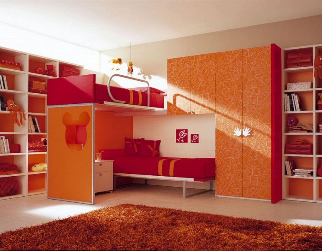 orange and pink bedroom ~ cryp