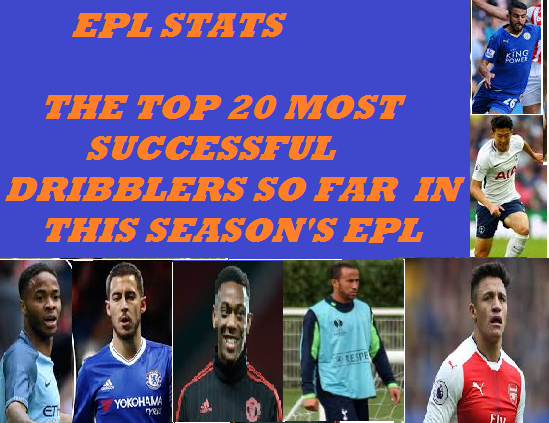 EPL STATS: Top  20 best DRIBBLERS so far this season.