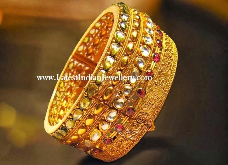 Designer Gold Kangan Latest Indian Jewellery Designs