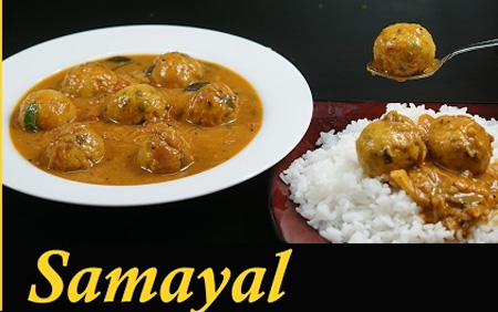 Paruppu Urundai Kuzhambu / Paruppu Urundai Kulambu Recipe in Tamil / Kulambu recipes in Tamil