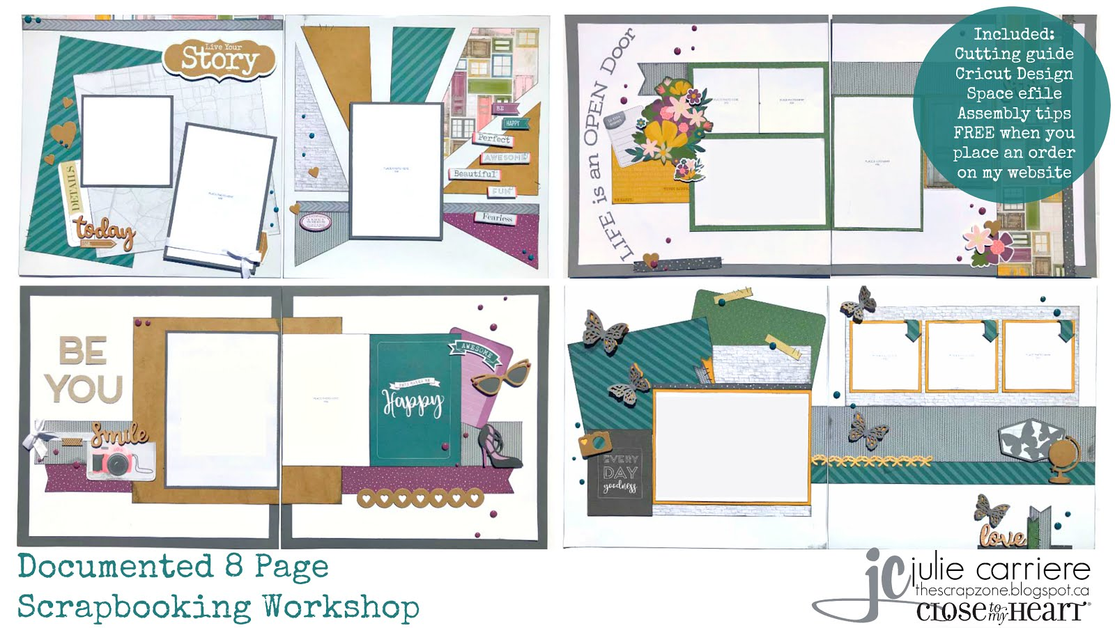 Documented scrapbooking assembly guide