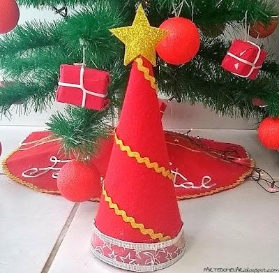 árvore de natal de cone