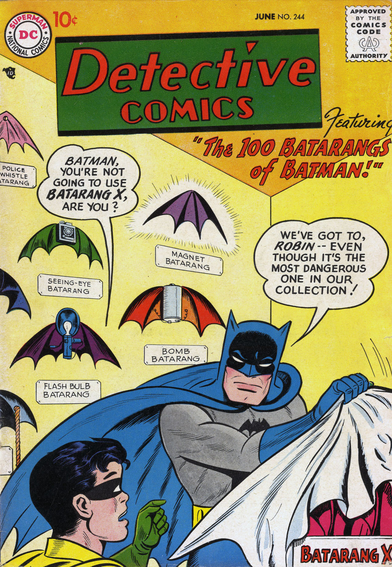 Detective Comics (1937) 244 Page 0
