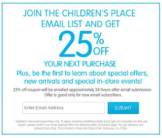 graphic relating to Childrens Place Printable Coupon called The childrens Area discount coupons printable : Ninja cafe nyc