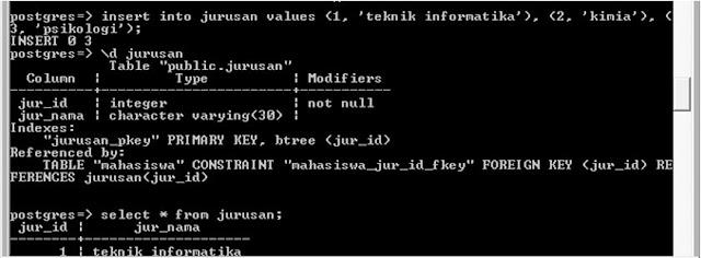 Kelas Informatika - Input Data Jurusan