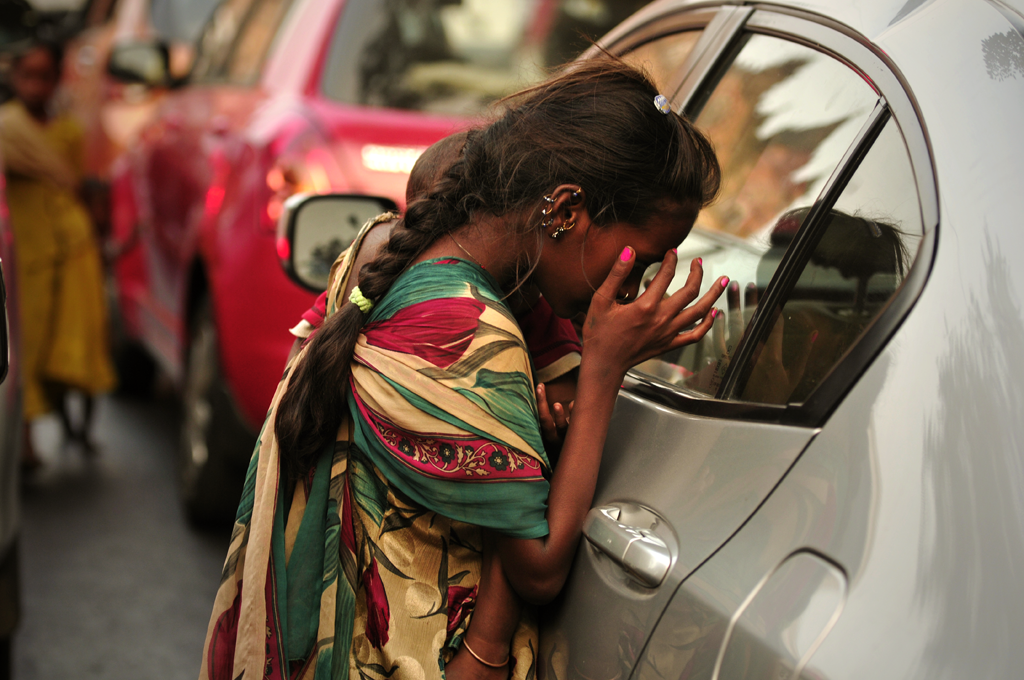 Photo of a street child in India.