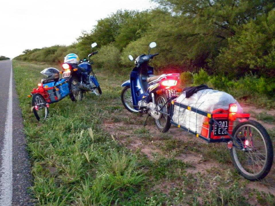 Viaje largo en moto