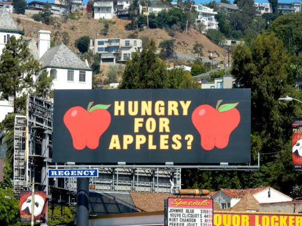 Hungry for apples Rick and Morty season 2 teaser billboard