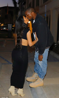 kanye west loved up with his wife kim