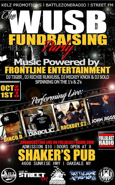 WUSB FUNDRAISING PARTY at SHAKER'S PUB, OCTOBER 1