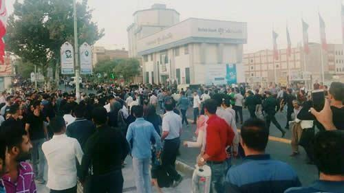Protest in Sanandaj in solidarity with Baneh uprising