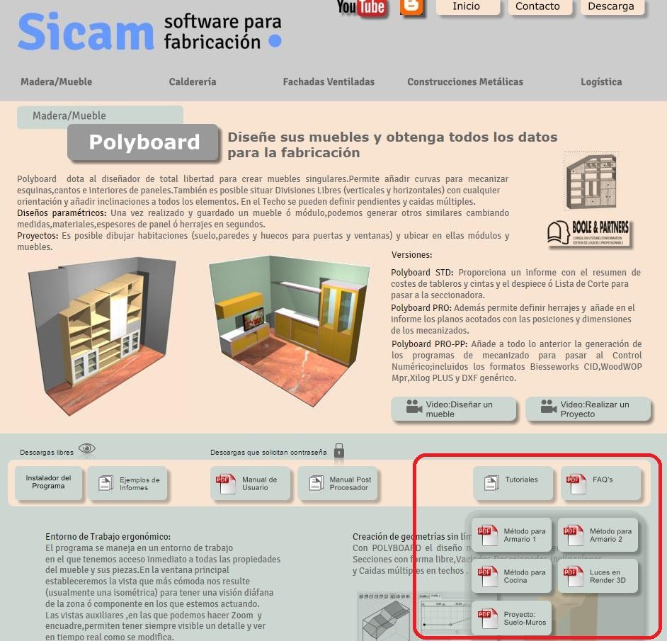 Actualidad sicam software for Herrajes para polyboard