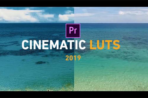 أنماط لونية سينمائية مميزة 2019 للأدوبي بريمير مجانا على مدونة دروس ميديا Cinematic LUTs Pack
