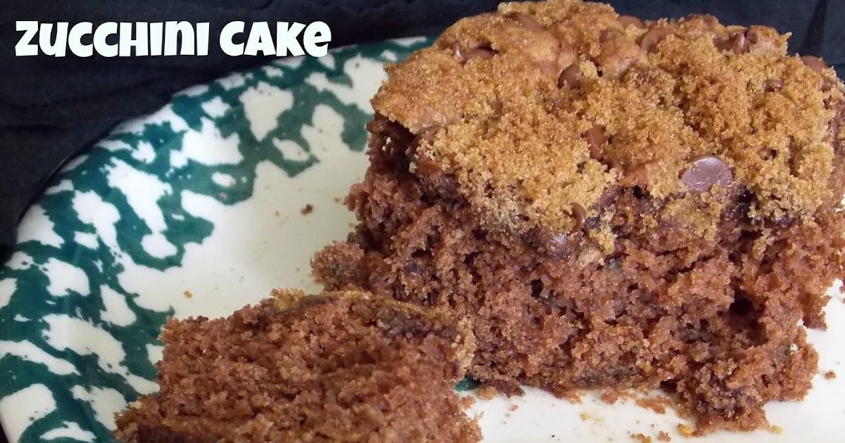Zuchini Cake No Frosting Recipe