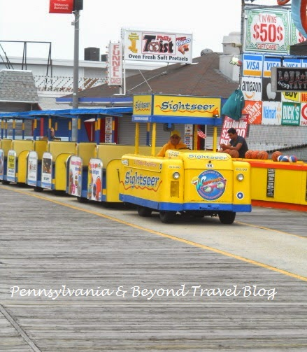 Sightseer Tram Car on Wildwood Boardwalk in New Jersey