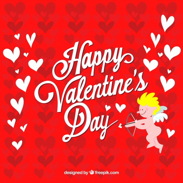 Red valentines day background design Free Vector