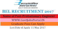 Bharat Electronics Limited Recruitment 2017– 66 Probationary Engineer