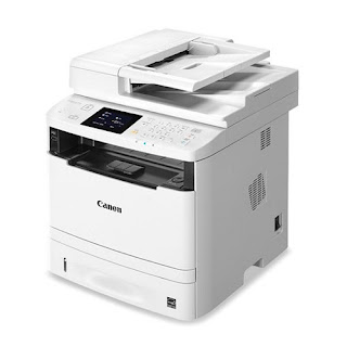 black together with white Light Amplification by Stimulated Emission of Radiation multifunctional printer that offers impress Canon i-SENSYS MF411dw Driver Download