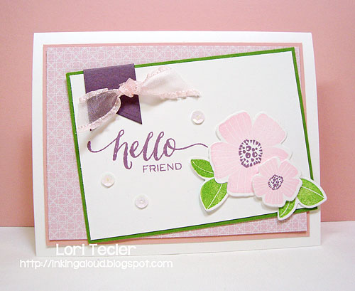 Hello Friend-designed by Lori Tecler/Inking Aloud-stamps and dies from WPlus9