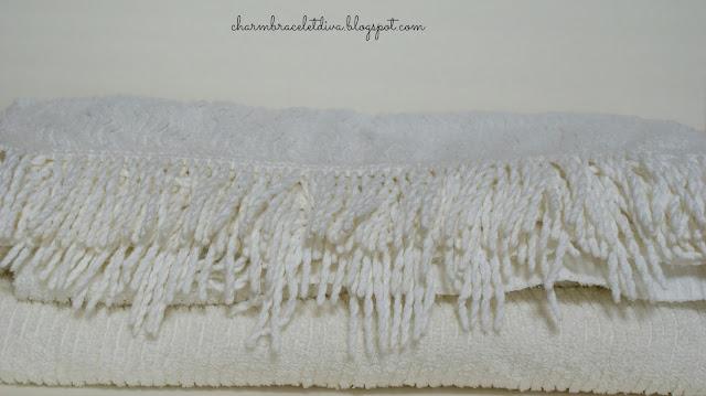 white chenille bedspread