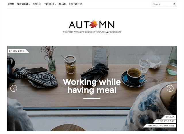 Autumn-Blogger-Template