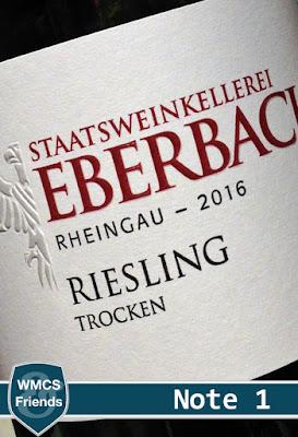 Staatsweinkellerei Eberbach Riesling Rheingau 2016
