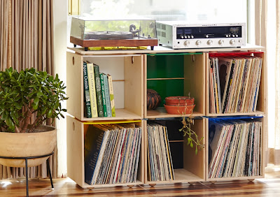 storage cubes for vinyl LPs