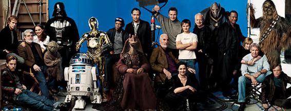 Reparto saga Star Wars. La guerra de las galaxias