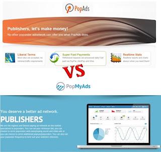 Comparación PopAds vs PopMyAds
