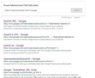 submit url di google