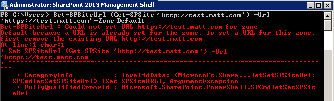 Matt's SharePoint Blog: Changing SharePoint Host Named Site