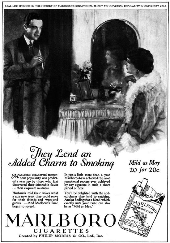 Marlboro ad Dececmber 1926