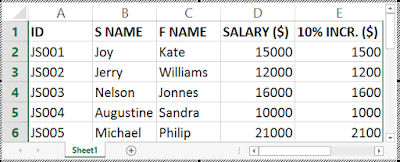 Payroll System Using VLOOKUP function